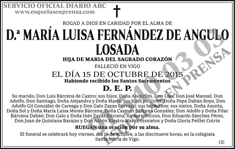 María Luisa Fernández de Angulo Losada